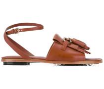 Sandalen mit Fransen - women - Leder/rubber