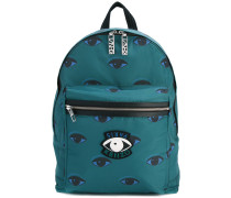 'Eyes' Rucksack - men - Acryl/Polyester