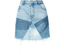 patchwork denim skirt - women - Baumwolle - 28