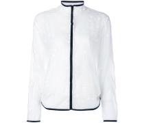 - Semi-transparente Jacke mit Punkten - women
