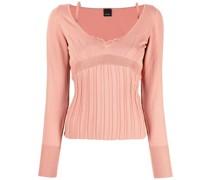 Gerippter Slim-Fit-Pullover