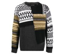 Pullover im Patchwork-Stil