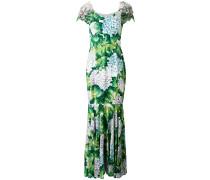 floral flared maxi dress - women