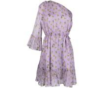 one-shoulder floral-print dress