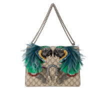Dionysus feather embellished shoulder bag