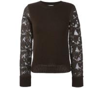 Pullover mit Spitzenärmeln - women - Baumwolle