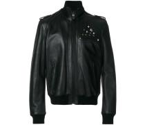 studded zipped jacket