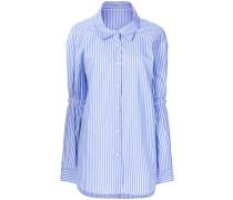 pinstriped oversized shirts