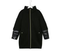 Mantel mit Daunenabschlüssen