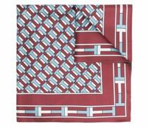 Schal mit geometrischer Stickerei