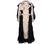 Gerüschtes Kleid im Trench-Stil