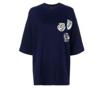 Kastiges T-Shirt mit Wappen-Print