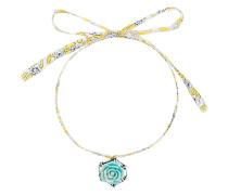 Tea floral pendant necklace