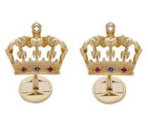 18kt Gelbgold-Manschettenknöpfe mit Krone