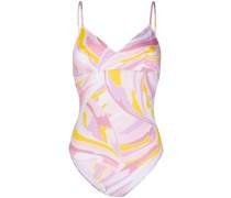 Badeanzug mit abstraktem Print