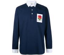 Poloshirt mit Blumen-Patch