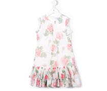 Kleid mit floralem Print - kids - Polyester