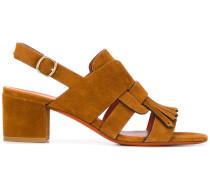 Sandalen mit Fransen, 60mm