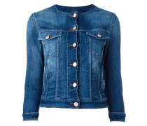 Jeansjacke ohne Kragen