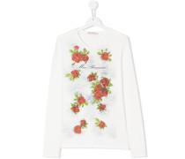 rose print longsleeved T-shirt