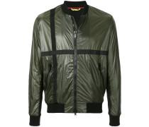 stripe panel bomber jacket