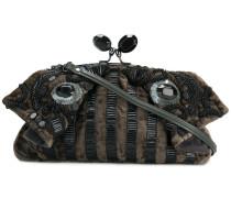 embellished folded clutch bag
