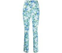 Ausgestellte Taillenhose mit Blumen-Print