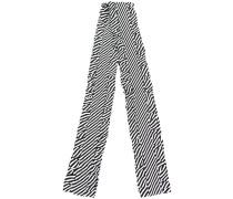 striped ruffle trim scarf