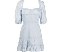 Paxton puff-sleeve mini dress