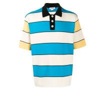 Gestricktes Poloshirt mit Streifen