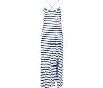 Gestreiftes Kleid mit überkreuzten Riemen