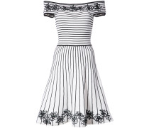 Becca floral and striped skater dress