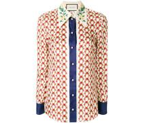 gun heart print shirt