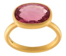 22kt Goldring mit pinkem Turmalin