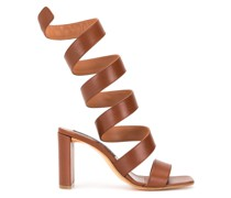 Sandalen mit gewickeltem Riemen