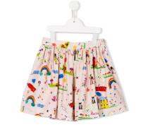 rawing print skirt