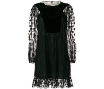 lace and velvet mini-dress