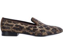 Slipper mit Leopardenmuster