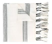 - striped scarf - women - Leinen/Flachs/Wolle