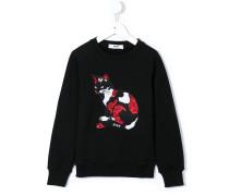 Sweatshirt mit Katzen-Motiv