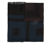 Schal mit Print - unisex - Seide/Baumwolle
