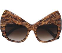 Cat-Eye-Sonnenbrille mit Tiger-Print - women