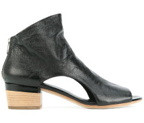 open toe cut out sides ankle boots