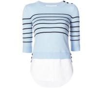 striped button jumper