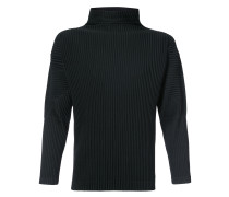 pleated detail sweatshirt