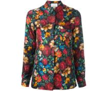 Lockeres Seidenhemd mit floralem Print