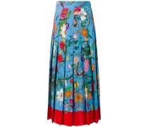 Seidenrock mit Blumen-Print - women - Seide - 38