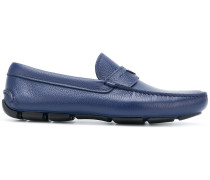 triangle logo slip-on loafers