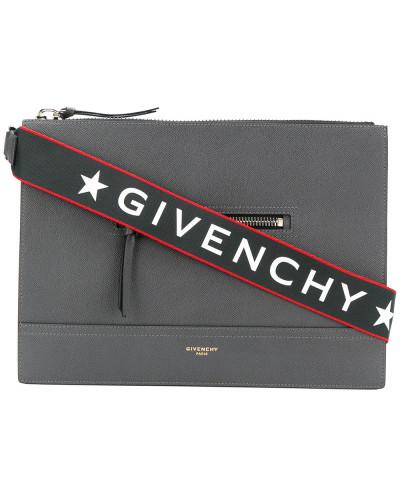 Versand Outlet-Store Online Givenchy Herren Kuriertasche mit Logo-Riemen Offizielle Seite J5Tb74L8sT