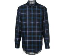 long-sleeved check shirt